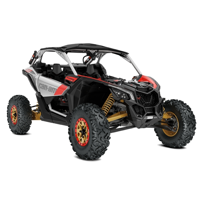 Maverick X rs Turbo R INT Gold, Can-Am Red / Hyper Silver MY19
